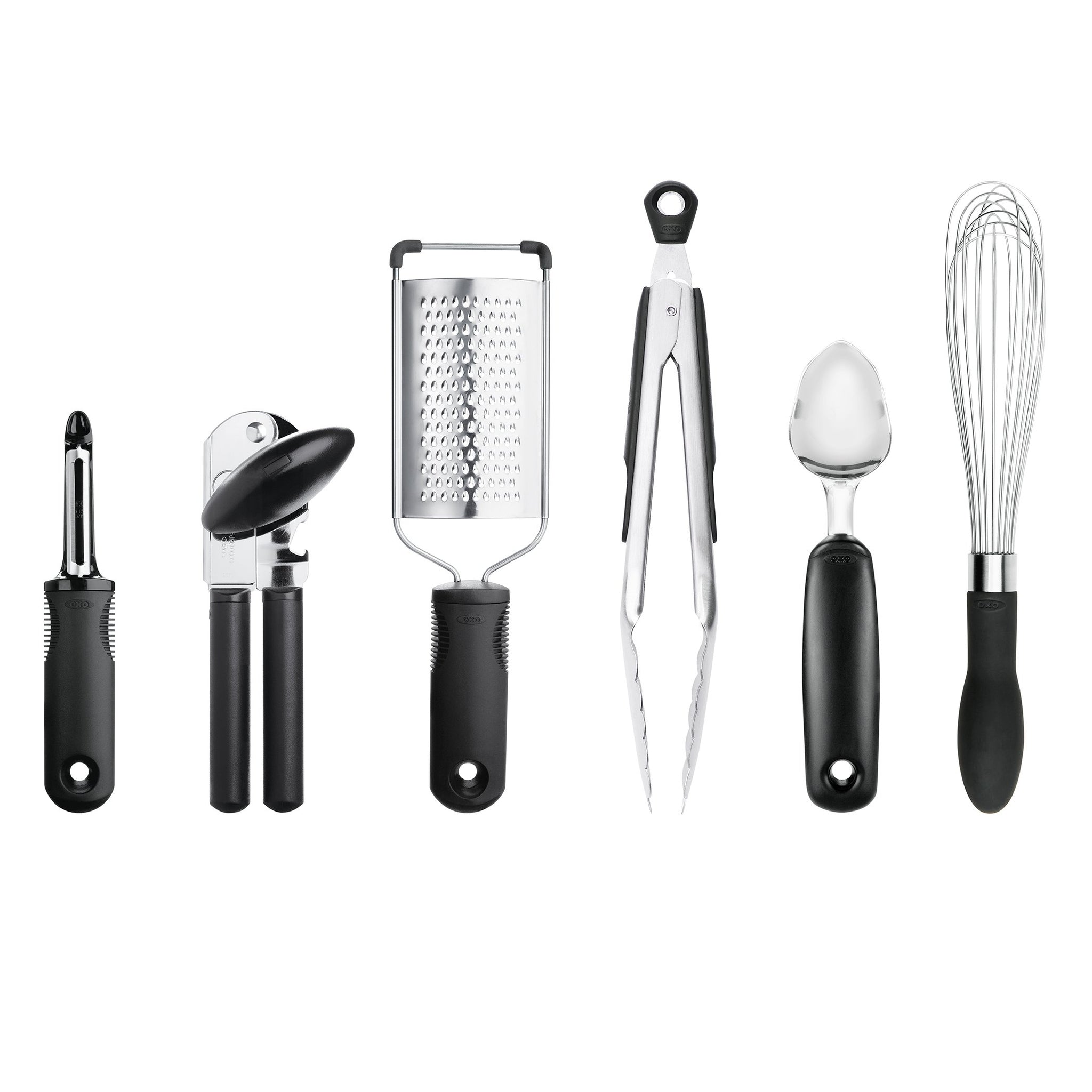 OXO 76781 Good Grips 6-Piece Kitchen Essentials Set, Black