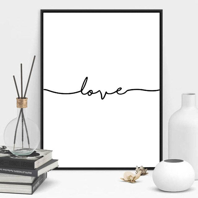 Print Nordic Poster Love Sign Art