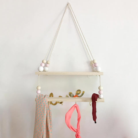 Ins Nordic Style High-end Wooden Beads Rack