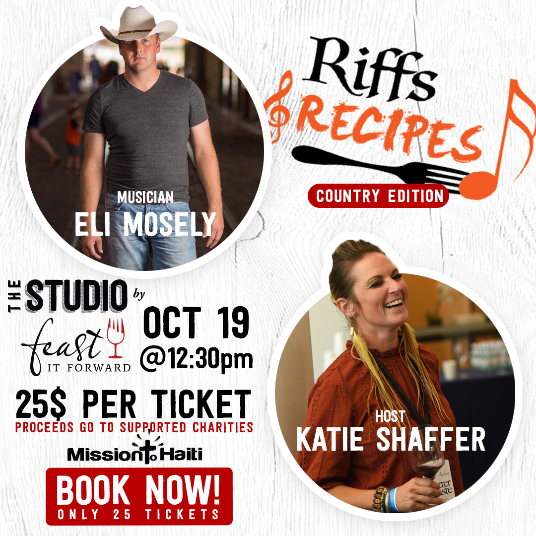 Riffs & Recipe (Eli Mosely + Host Katie Hamilton Shaffer)