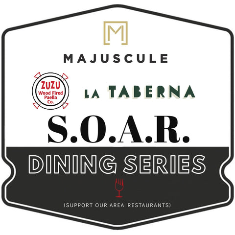 Majuscule Wine Harvest Party + S.O.A.R. SERIES: Sunday, Sept. 13th ZuZu Paella & La Taberna