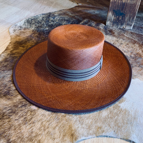 Handwoven Toquilla Straw Hat - THE CORDOBÉS - HICKORY BROWN