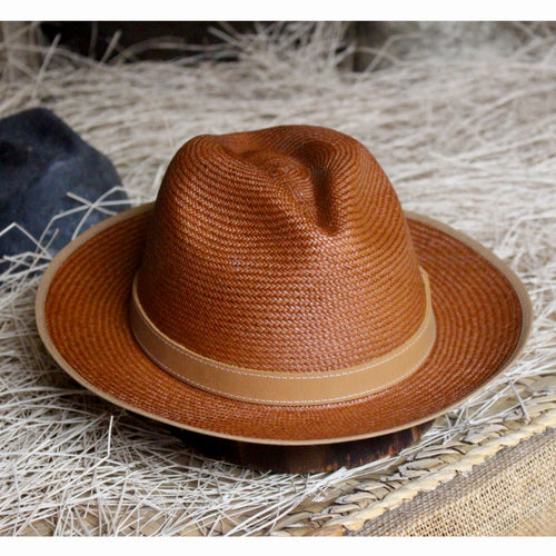 Toquilla Straw Hat - Tiger Brown