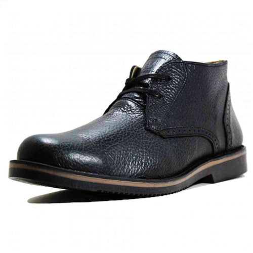 Leather Shoes - CHUKKA - Bison T Black