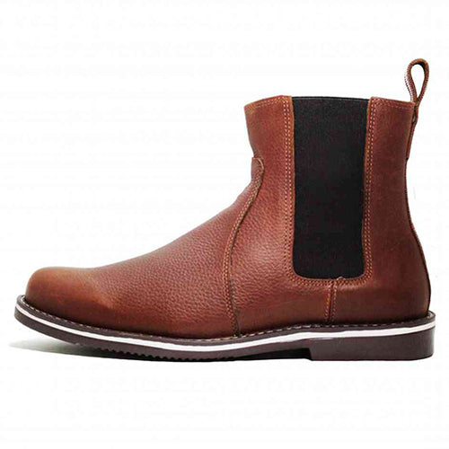 Leather Boots - CHELSEA BOOTS - Chameleon Brown