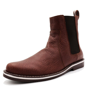* Leather Boots - CHELSEA BOOTS - Light Wine ~ Brown BISON T