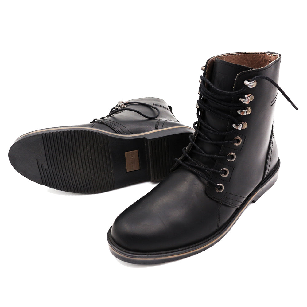 * Leather Boots - THE OUTDOOR - BLACK <WATER RESISTANT>