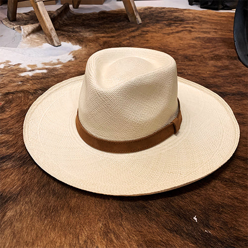 Handwoven Toquilla Straw Hat - THE DIAMOND - Natural
