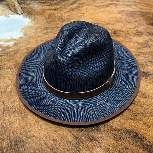 Handwoven Toquilla Straw Hat - THE CLASSIC - Nautica Blue