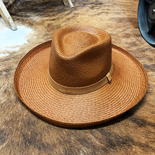 Handwoven Toquilla Straw Hat - THE DIAMOND - Tiger Brown