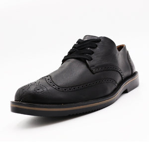 * Leather Shoes - WINGTIPS - BLACK