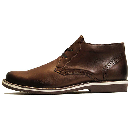* Leather Shoes - CHUKKA - HERITAGE BROWN