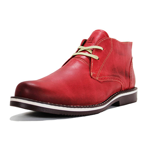 Leather Shoes - CHUKKA - MIRO RED