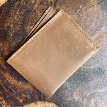 Leather Wallet - THE MINIMALIST - Ash Brown