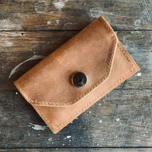 Business Card Holder - Leather Wallet - COGNAC