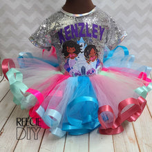 Load image into Gallery viewer, RIBBON TRIM TUTU & SEQUIN TEE SET