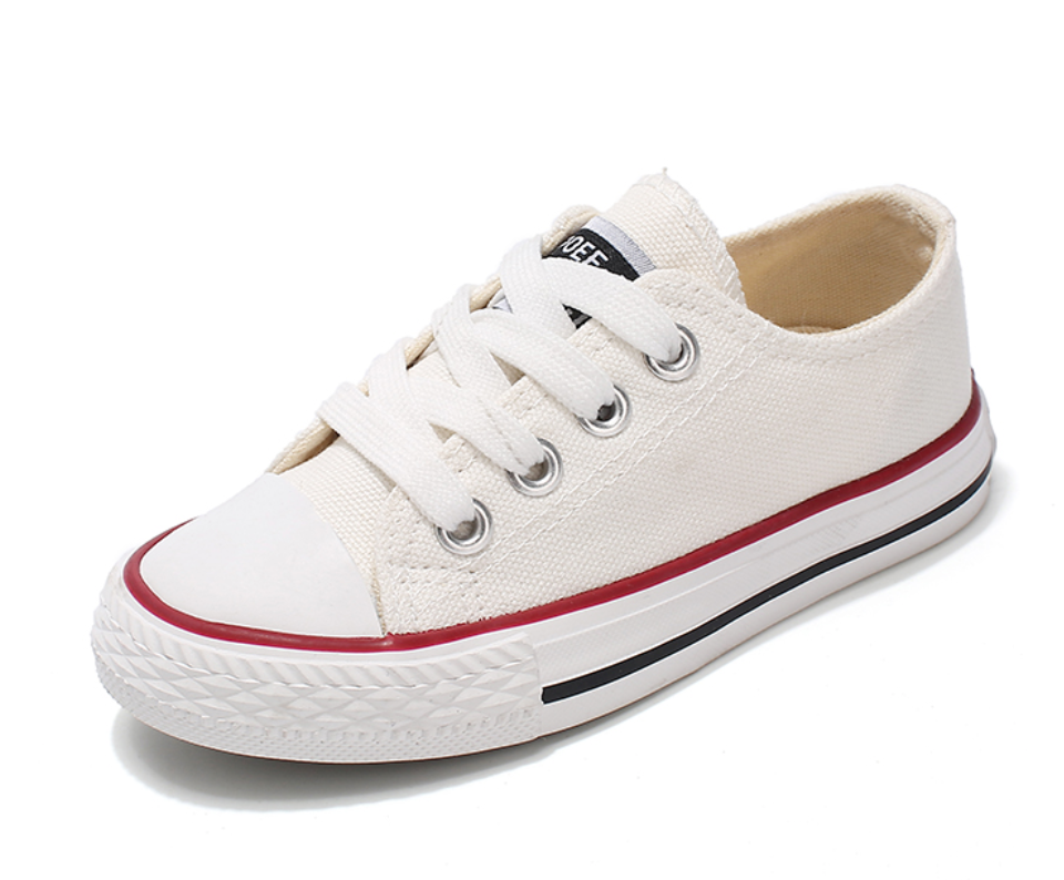White Kids Canvas Shoes