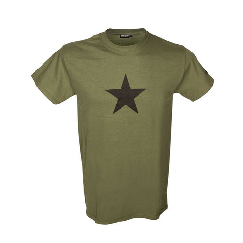 original Blackstar khaki short sleeved t-shit front