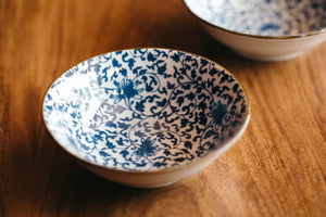 Small Blue Floral Bowl