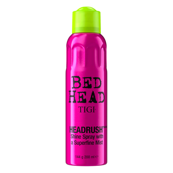 Tigi Bed Head Headrush Shine Spray with Superfine Mist 200ml - Grace Beauty