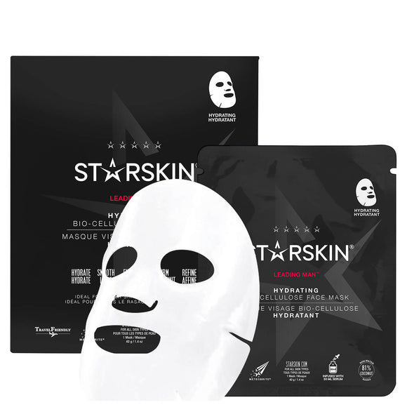 STARSKIN Leading Man Hydrating Coconut Bio-Cellulose Second Skin Face Mask 40g
