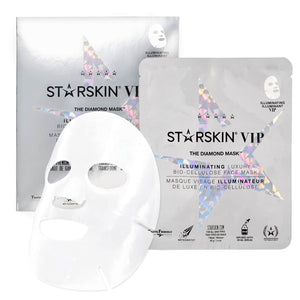 STARSKIN The Diamond Mask™ VIP Illuminating Coconut Bio-Cellulose Second Skin Face Mask - Grace Beauty
