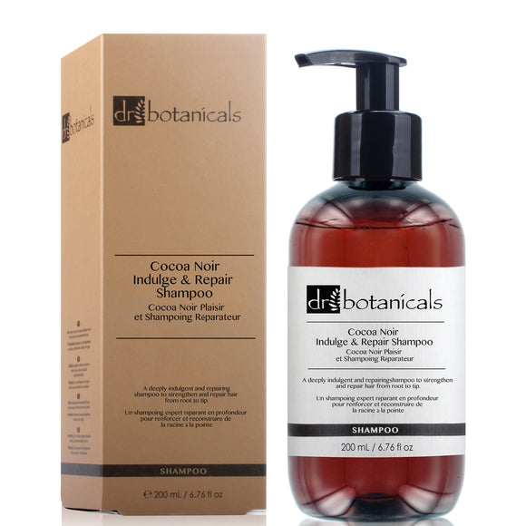Dr Botanicals Cocoa Noir Indulge and Repair Shampoo 200ml Vegan - Grace Beauty