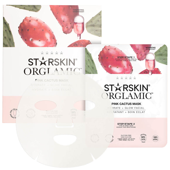 STARSKIN Orglamic Pink Cactus Oil Mask (Hydrate + Glow Facial) - Grace Beauty