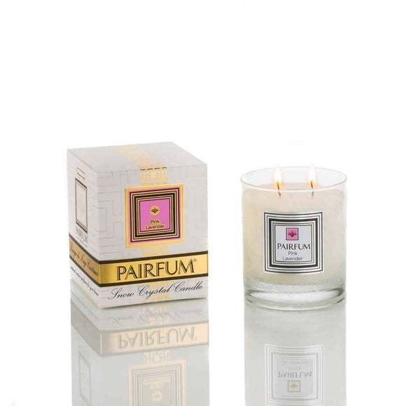 Pairfum London The Snow Crystal Candle 'Eau de Parfum' Pink Lavender 200g - Grace Beauty