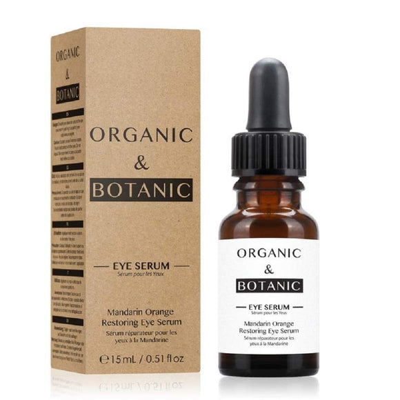 Organic & Botanic Vegan Mandarin Orange Restorative Eye Serum 15ml - Grace Beauty