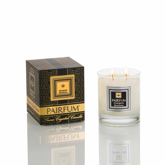 Pairfum London The Snow Crystal Candle'Eau de Parfum' Orangerie Blossoms 200g - Grace Beauty