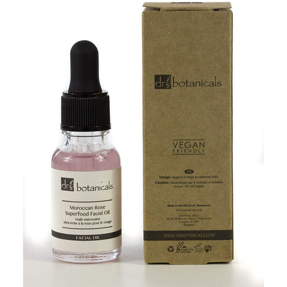 Dr Botanicals Moroccan Rose VEGAN Superfood Facial Oil 15ml - Grace Beauty