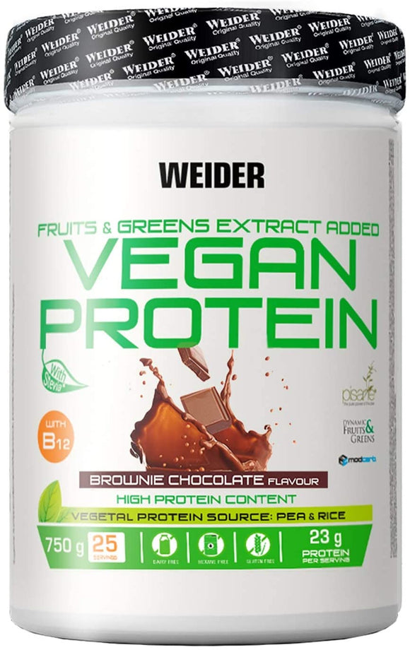Weider Vegan Protein Brownie Chocolate 750g (25 Servings)