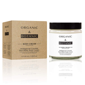 Organic & Botanic Vegan Madagascan Coconut Shea Butter Body Cream 80g - Grace Beauty