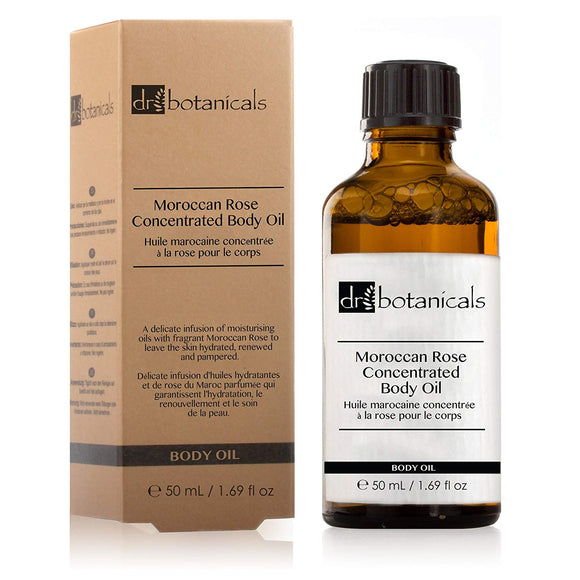 Dr Botanicals Moroccan Rose Concentrated Body Oil 50ml - Grace Beauty