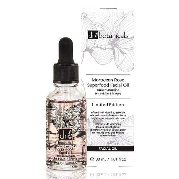 Dr Botanicals Moroccan Rose VEGAN Superfood Facial Oil 30ml - Grace Beauty