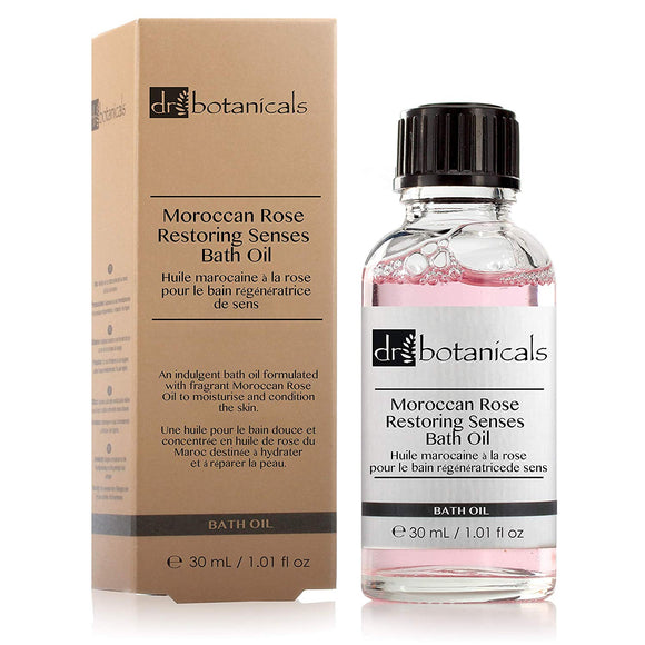 Dr Botanicals Moroccan Rose Restoring Senses Bath Oil 30ml - Grace Beauty