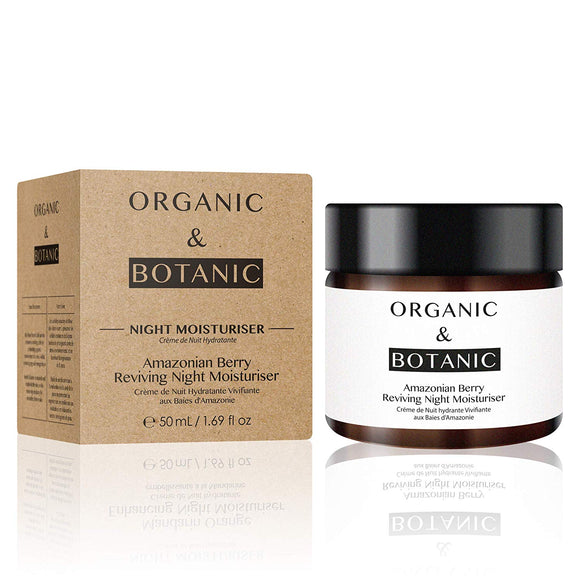 Organic & Botanic Vegan Amazonian Berry Reviving Night Moisturiser 76g - Grace Beauty