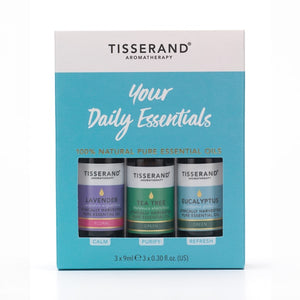 Tisserand Aromatherapy Your Daily Essentials Kit 3x9ml Pure Essential Oil