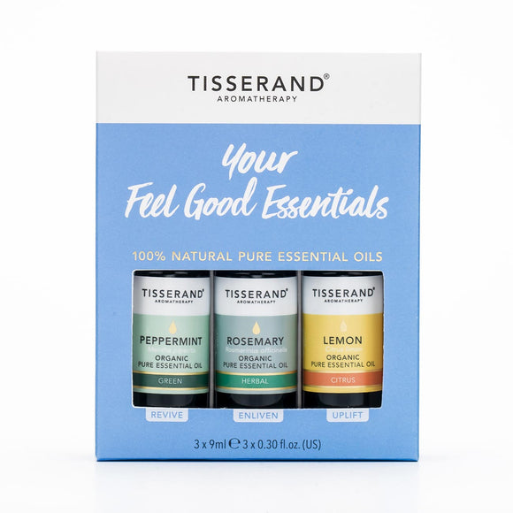 Tisserand Aromatherapy Your Feel Good Essentials Kit 3x9ml Pure Essential Oil