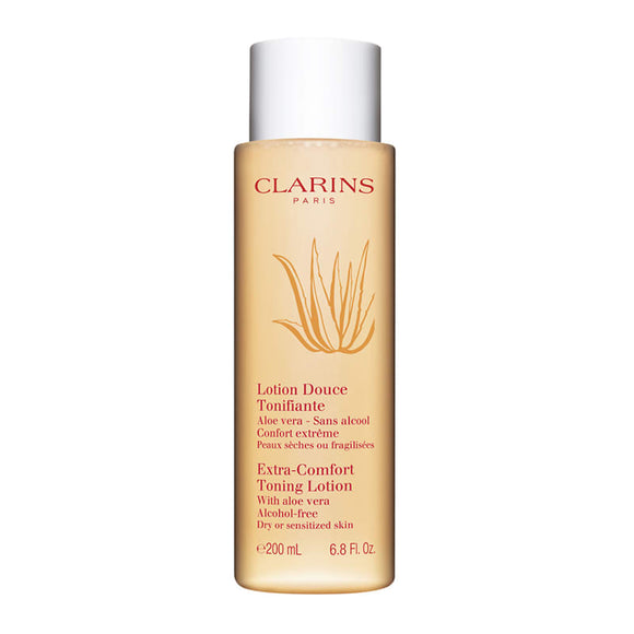 Clarins Extra-Comfort Toning Lotion with Aloe Vera 200ml (Dry/Sensitized Skin) - Grace Beauty
