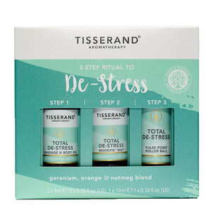 Tisserand Aromatherapy 3-Step Ritual to De-Stress 3 x 10ml