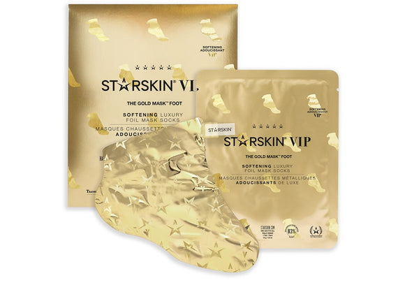 STARSKIN VIP The Gold Foot Mask 16g, Softening Luxury Foil Mask Socks - Grace Beauty