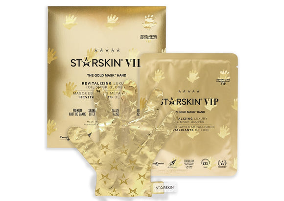 STARSKIN VIP The Gold Hand Mask 16g, Revitalizing Luxury Foil Mask Gloves - Grace Beauty