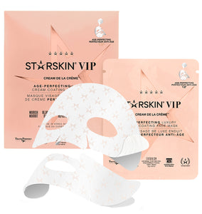 STARSKIN VIP Cream de la Crème Age-Perfecting Luxury Cream Coated Sheet Face Mask - Grace Beauty
