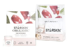STARTSKIN THE ORGLAMIC™ COLLECTION SET 3PCS, PUDDING + PINK CACTUS MASK + HEADBAND - Grace Beauty
