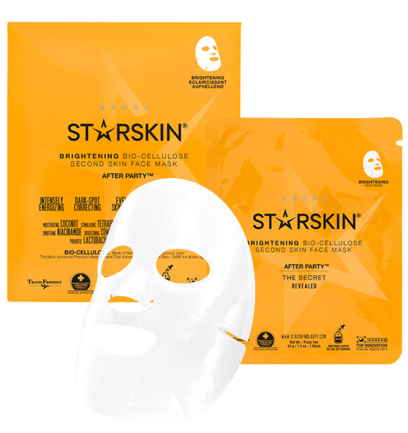 Starskin After Party - Brightening Coconut Bio-Cellulose Second Skin Face Mask - Grace Beauty