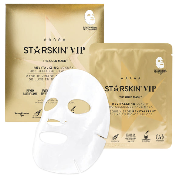 STARSKIN The Gold Mask™ VIP Revitalising Luxury Coconut Bio-Cellulose Second Skin Face Mask - Grace Beauty