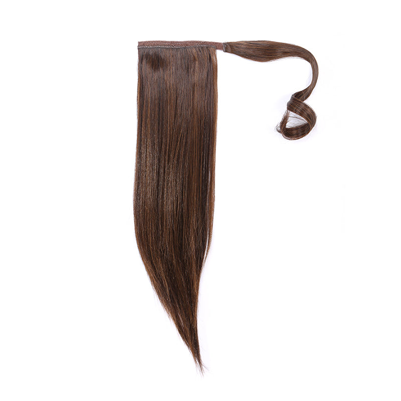Straight pony tail chestnut r10
