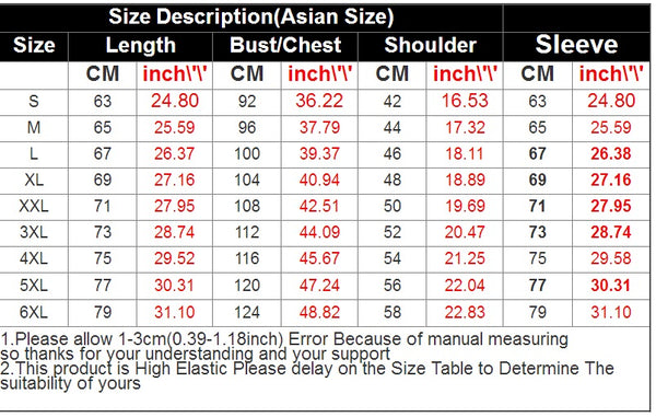 cool hoodies for men size chart